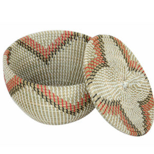 Basket seagrass with lid HL3790