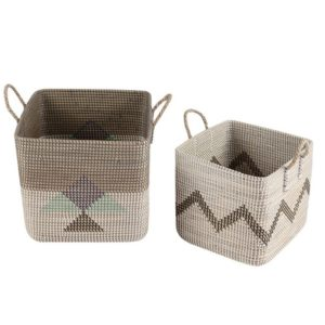 Laundry basket seagrass HL1819
